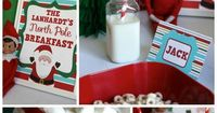 Elf on the Shelf North Pole Breakfast PRINTABLES. Can be personalized.