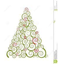Swirl Silhouette Of Christmas Tree - Download From Over 27 Million High Quality Stock Photos, Images, Vectors. Sign up for FREE today. Image: 16900995
