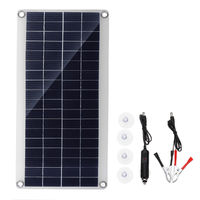 15W Portable Solar Panel Kit DC USB Charging Double USB Port Suction Cups Camping Traveling
