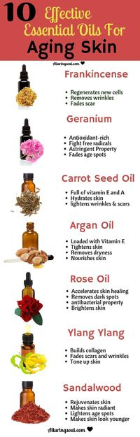 Use these 10 best essential oils for aging skin and get your skin free from wrinkles, scars, dryness and uneven skin tone. Check out how they can help you.