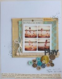 SC LOTW by Ginny Hughes - i <3 the photos & the buttons (but i could never do that with buttons... i just hoard them)