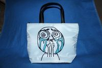 Cuteness Overload and So Much Win Bucket Bag by Valiantstudios, $30.00