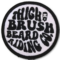 THIGHBRUSH® BEARD RIDING COMPANY - Logo Patch - Black and White (Sew-on)