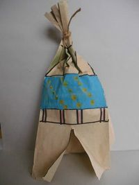 Paper Bag Tee-pee Craft