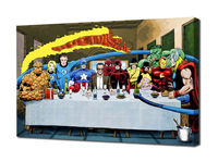 Marvel: Stan Lee's Super Supper Mounted Canvas Wall Art - with The Fantastic Four, X-Men, Spider-Man & The Avengers (various sizes) £19.99