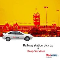 Railway Station Cabs Pickup and Drop services from any places in and around Chennai, India. - #Beecabs Online Cab Booking. 24*7 Call us 8148 001 001 / 8148 002 002.