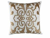 Mozart White & Straw Pillow by Lili Alessandra $300.00