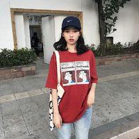 Korean Ulzzang Spring T-shirt Women Casual Short Sleeve Cartoon T Shirt Female Loose Tshirt Vogue Tops Tee Streetwear $25.00