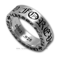 657058e56ebc Chrome Hearts Ring Silver 6mm Spacer New Style Sale 3.0mm  thickness 6.0mm
