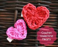 A free pattern for a quick and easy crochet heart. Perfect for Valentine's Day