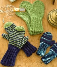 Crochet Mittens for All Free Crochet Pattern from Red Heart Yarns