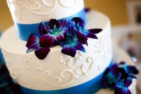 Blue Orchids and Ribbon - Stunning!