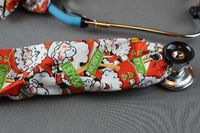 Stethoscope Cover Christmas Holiday | Santa stethoscope Cord cover | Handmade Nurse Doctor Gift | Stethoscope Sock | Stethoscope Accessories $10.99