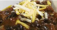 black bean Chili. This is our favorite chili recipe! It's easy, hearty, and the mild taste of black beans compliments it nicely.