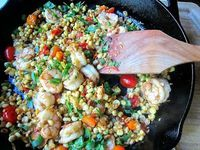Stacey Snacks: Summer Saute: Shrimp, Corn & Cherry Tomatoes