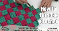 Key tips and advice for understanding Entrelac Crochet. Free Pattern for an entrelac afghan. Learn the insider secrets to being successful with this type of crochet stitch.