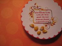 5 Kernels of Corn Craft - maybe print legend on back. Use as mission craft for nursing home?