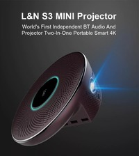 L&N S3 DLP Protable Android Wifi Projector 2000 Lumens 1920x1080P 4000:1 Contrast Ratio Support 3D Home Theater Video Projector