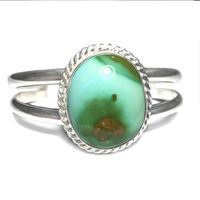 Sterling Silver Turquoise Cuff Bracelet with Premium Turquoise Gemstone $179.10