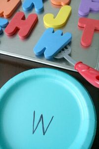 Bake some pretend ABC cookies. Then serve them up and practice letter matching with this fun preschool alphabet activity.