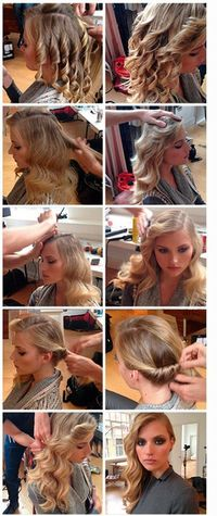Step by step hairstyle ::