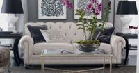 Love this couch and the charcoal accents.