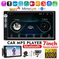 A5 7 Inch 2 Din for Android 8.1 Car MP5 Player Touch Screen FM Radio Stereo bluetooth Wifi GPS Navigation USB with Rear View Camera