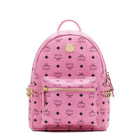 MCM Small Stark Side Odeon Studded Backpack In Pink