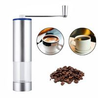 Manual Coffee Grinders ,Portable Washable Manual Coffee Grinder ,Stainless Steel Coffee Grinder (Silver M) $26.99