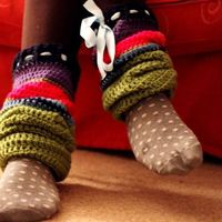 Big Crochet Leg Warmers ~ free pattern