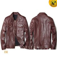 Haute Couture | Men Calfskin Leather Jacket CW808052 | CWMALLS.COM