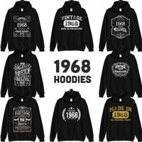 1968 Birthday Gift, Vintage Born in 1968 Hooded Sweatshirt for Women men, 52nd Birthday Hoodie for her him, Made in 1968 Hoodies 52 Year Old $23.99