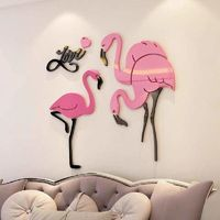 Flamingo Acrylic 3D Wall Stickers $88.60