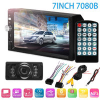 7 Inch 2DIN Car MP5 Player Bluetooth Touch Screen Stereo Radio HD+Rear Camera