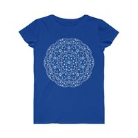 Dark Mandala Women's Fine Jersey Tee, Multi Colors $23.00