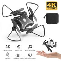 Mini Drone WiFi FPV Camera 4K HD Altitude Hold RC Drone Helicopter One-Key Return Foldable Mini Quadcopter High Quality Dron $42.54