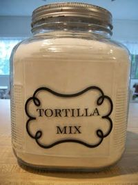 Homemade tortillas are not only very easy and inexpensive to make (about $.25 for 10) they taste so much better than the store bought ones. This site has other mixes as well. Lots of other mixes on the cheap. I love making my own mixes and nothing...
