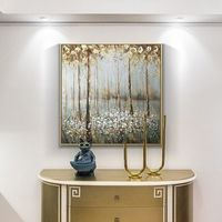 Gold art tree painting abstract flower Modern art paintings on canvas original art heavy texture Wall Pictures home decor cuadros abstractos $148.75