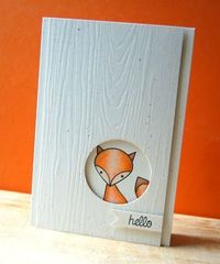 Woodland Hello Card by Cristina Kowalczyk for Papertrey Ink (March 2013)