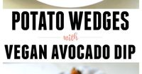 These Potato Wedges with Vegan Avocado Dip are the perfect snack for 2 or meal for 1. Lightly oiled and baked keeps these low fat.