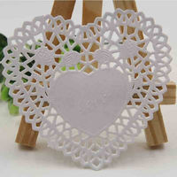 Pack of 100 Love Heart Paper Doilies. White Paper Doilies. Wedding Doilies £6.99