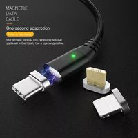 PZOZ 2.4A Type C Micro USB Magnetic QC3.0 Fast Charging Data Cable For Xiaomi Mi8 Mi9 HUAWEI P30 Pro Pocophone S9 S10 S10+