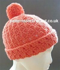 Free crochet pattern for bobble hat (follow link on page for matching scarf) http://www.patternsforcrochet.co.uk/bobble-hat-usa.html #patternsforcrochet