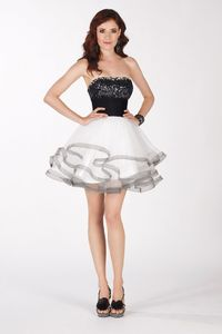 Strapless Tulle Dress by Alyce Claudine Collection