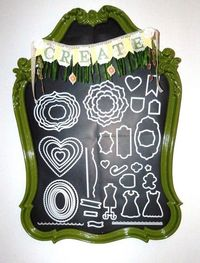 One of my favorite projects that I recently did. Big Shot die holder - with a fun Stampin Up banner