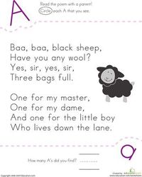 Nursery Rhyme ABC's- need to do more nursery rhymes with my kiddos