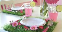 When I posted this little sneak peek of the flower cookies (displayed on grass mats) from a new baby shower theme that I'm working on for iVillage, one of