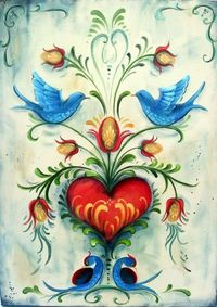 folk art paintings, folk art and art paintings.