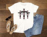 Women's Religious Shirt - John 3:16 Easter Crosses $12.99