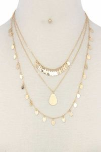 Metal Layered Necklace $29.51